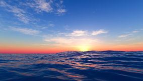 Sunset at the sea Royalty Free Stock Images