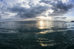 Sunset at Sea Level Stock Images