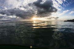 Sunset at Sea Level Stock Photography