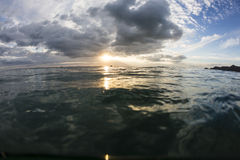 Sunset at Sea Level Royalty Free Stock Images