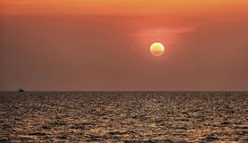 Sunset on the sea Royalty Free Stock Photos