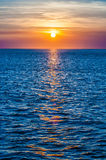 Sunset at sea Stock Image
