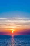 Sunset at sea Stock Photography