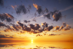 Sunset on the sea. Royalty Free Stock Images