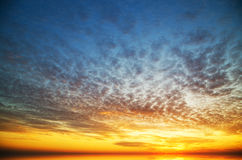 Sunset on the sea. Stock Photo