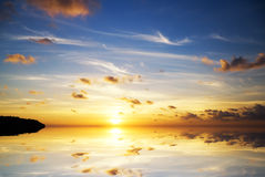 Sunset on the sea. Stock Photography