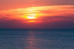 Sunset sea nature Stock Photo