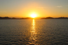 The sunset on the sea Royalty Free Stock Images