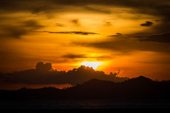 Sunset at the sea Royalty Free Stock Photo