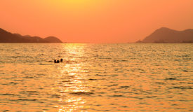 sunset and sea Stock Images
