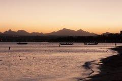 Sunset on the sea photo Royalty Free Stock Photo
