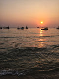 Sunset on the sea in Phu Quoc, Vietnam Stock Photo