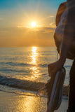 Sunset by the sea Royalty Free Stock Image