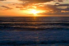 Sunset at sea. Romantic sunset on the serene sea Stock Photography