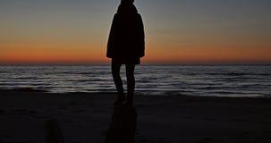 Sunset Sea Root 4k stock footage