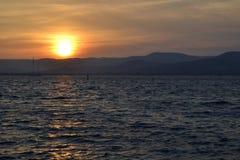 Sunset at sea Stock Photo