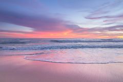 Sunset Sea Sand and Wave Royalty Free Stock Images