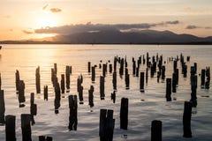 Sunset at the sea in Santiago de Cuba, Cu stock image