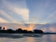 Sunset sea scap stock photo