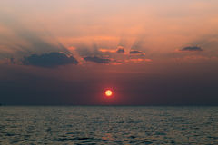 Sunset at the sea. Scenery of sunset at the sea Stock Photography
