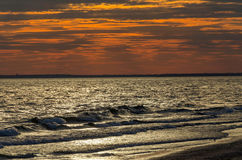 The sunset on the sea Stock Photography
