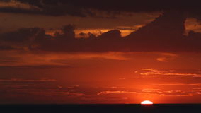 Sunset at sea and shell farm stock footage