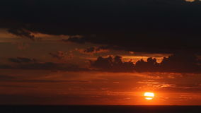 Sunset at sea and shell farm stock video footage