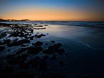 Sunset sea shore Royalty Free Stock Photos