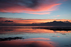 Sunset by the sea. Siquijor Island, Philippines Royalty Free Stock Photography