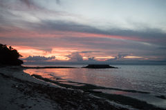 Sunset by the sea. Siquijor Island, Philippines Royalty Free Stock Photos