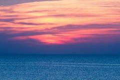 Sunset sea sky Stock Photo
