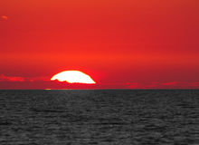 Sunset sea skyline Royalty Free Stock Photo