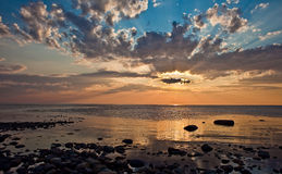 Sunset in Solovki Royalty Free Stock Photos