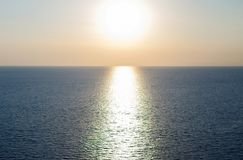 Sunset at the sea stock photography