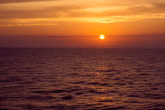 Sunset At Sea Royalty Free Stock Image