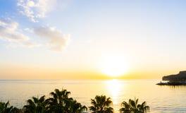 Sunset on the sea. sunrise wallpaer postcard. Sunset on the sea. sunrise wunder view Stock Image