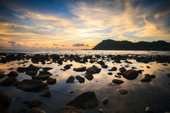 Sunset and sea. In Thailand Stock Image