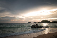 Sunset on the sea in thailand. Amazing sunset view on the sea inThailand Pattaya Stock Photos