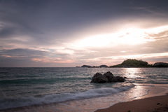 Sunset on the sea in thailand. Amazing sunset view on the sea inThailand Pattaya Royalty Free Stock Photos