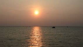 Sunset at the sea in Thailand. Backgrounds stock video