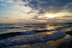 Sunset at the sea Stock Photo