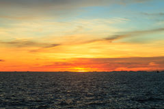 Sunset at sea Royalty Free Stock Photos