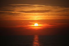Sunset on the sea. Stock Photos