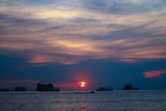 Sunset. On sea view Stock Photo
