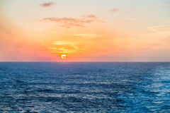 Sunset at Sea Royalty Free Stock Images