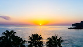 Sunset on the sea. wallpaper view Royalty Free Stock Photo
