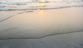 Sunset sea waves Royalty Free Stock Images
