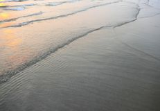 Sunset sea waves Stock Images