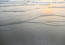 Sunset sea waves Royalty Free Stock Photography