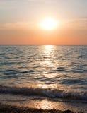Sunset. Seascape. Royalty Free Stock Image